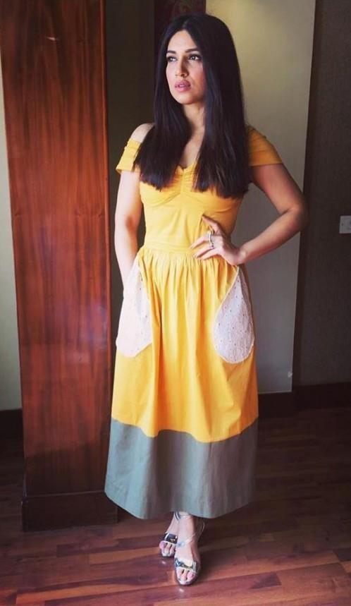 I am looking for same dress and same shoes bhumi pednekar is wearing while promoting toilet ek prem katha - SeenIt