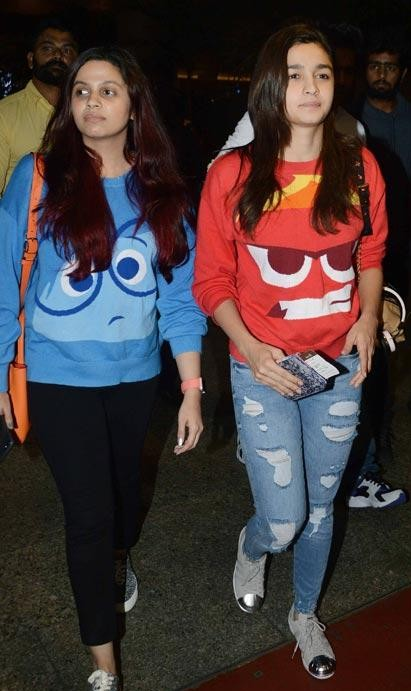 Have been looking for this Inside Out character sweatshirts worn by the Bhatt Sisters from a very long time now. Any leads anyone? - SeenIt