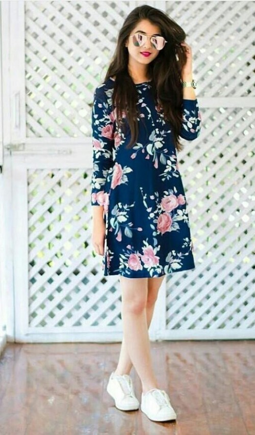 Looking for the same floral print skater dress worn by Shaurya. Where can I find it? - SeenIt