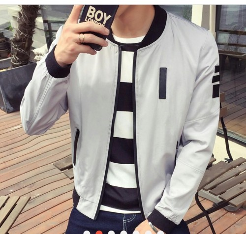 I'm looking for a similar grey bomber jacket - SeenIt
