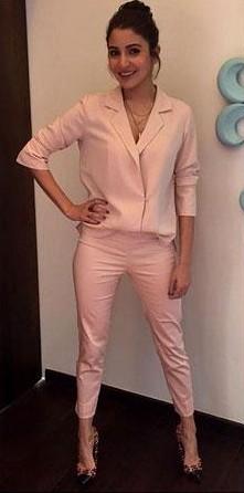 Want to recreate Anushka Sharma's pink pantsuit look. - SeenIt