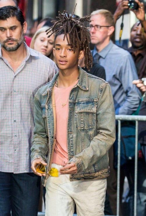 looking for similar blue denim jacket like the one which Jaden Smith is wearing - SeenIt