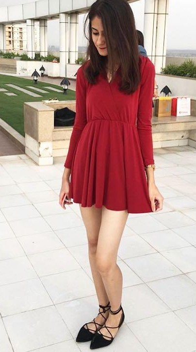 Want the same red dress and black shoes - SeenIt