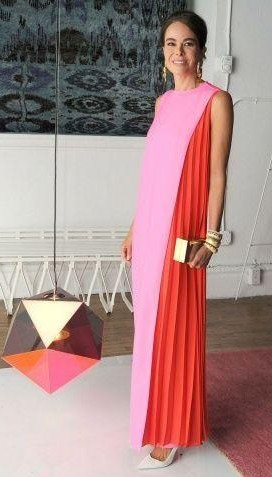 Want a pink and red colour-block dress - SeenIt