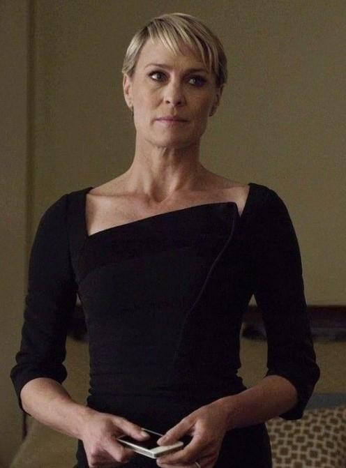 Looking for similar black dress which Claire Underwood is wearing - SeenIt