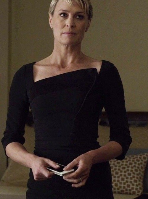 Want this black dress which Claire Underwood is wearing in House of Cards - SeenIt