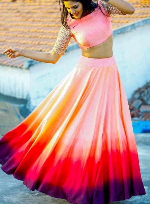 i'm looking for similar silk party wear Crop top lehenga In multicolour colour - SeenIt