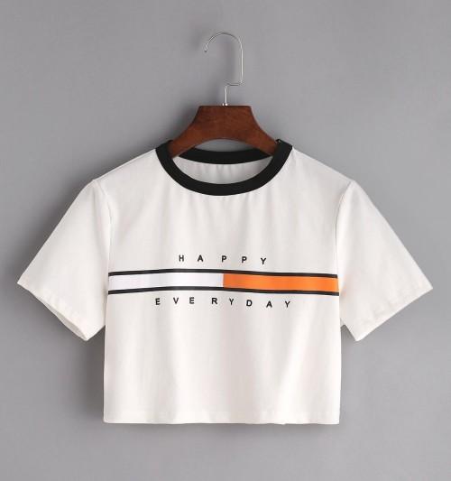 want a similar print white tee - SeenIt
