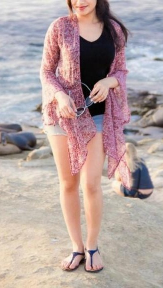 Looking for this pretty pink shrug. - SeenIt