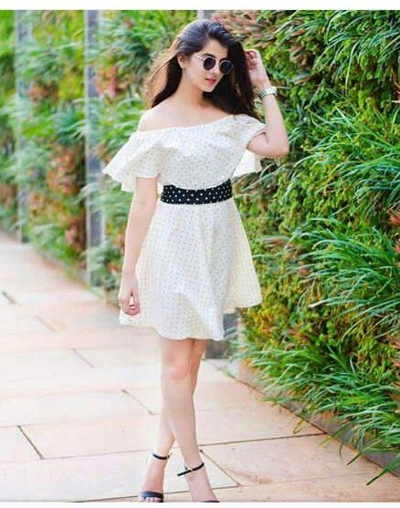 I am looking for a similar white polka dot dress which Shaurya is wearing - SeenIt