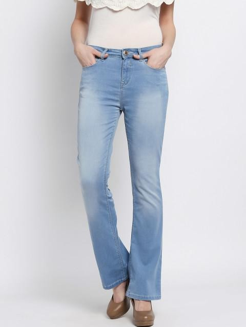 Want Similar flared blue jeans - SeenIt