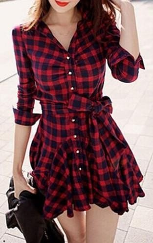 Looking for a similar red plaid shirt dress - SeenIt