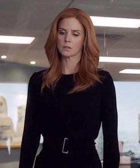 Donna's black full sleeve jumpsuit is what i am hunting for online in Suits - SeenIt