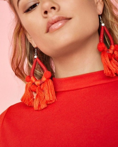 Want these red tasseled danglers. - SeenIt