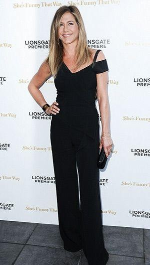 Where can I find this black jumpsuit Jennifer Aniston is wearing - SeenIt