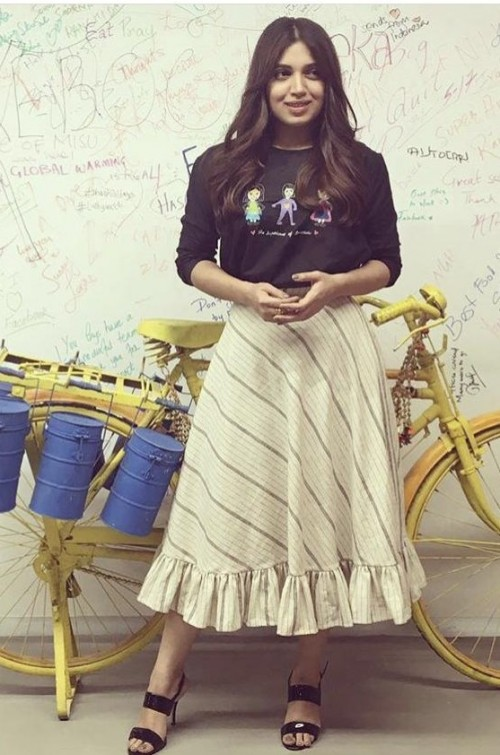 987e4d9d45ac Bhumi Padnekar wearing a Meraki Project outfit at the promotions of her