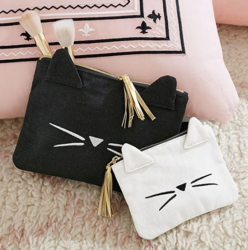 Looking for a similar quirky kitty makeup bag in pink - SeenIt