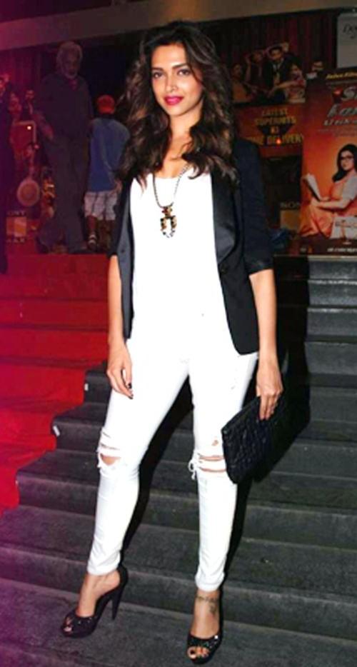 Shop deepikapadukone, blazer, jeans, outfit, top on SeenIt ...