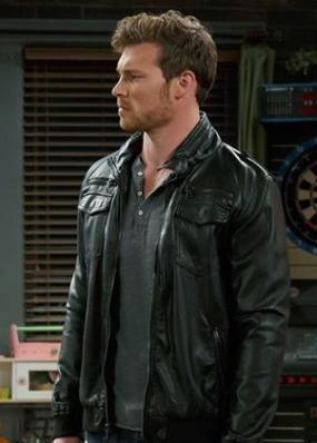 Image result for henley shirts+biker leather jacket