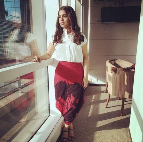419bbc843ad6 Help me find such red dhoti pants which Bhumi Pednekar is wearing for Shubh