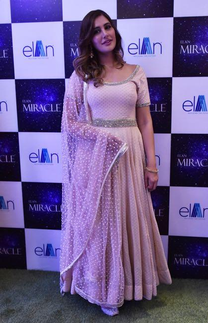 Looking for a similar baby pink anarkali online like Nargis Fakhri is wearing at an event recently - SeenIt