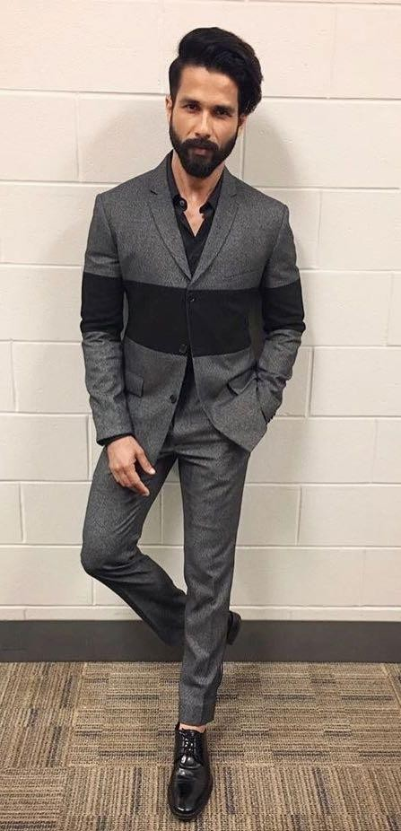 Want a similar grey suit like the one which Shahid Kapoor is wearing - SeenIt