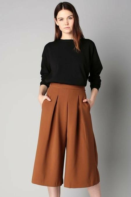 I am looking for similar brown colored culottes - SeenIt