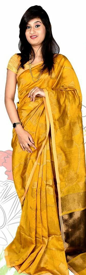 Want this yellow silk saree - SeenIt