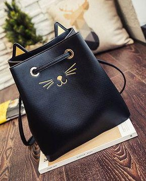 Want this black kitty bucket bag - SeenIt
