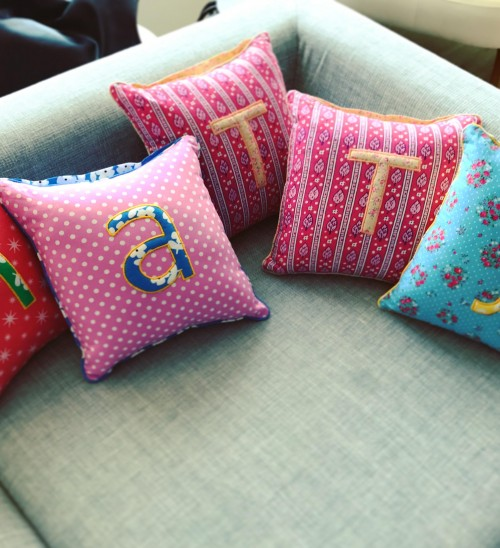 Where can I find such alphabet printed multicolour printed cushions? - SeenIt