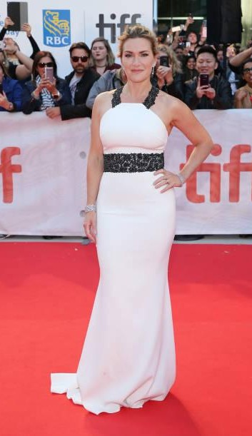 Yay or Nay? Kate Winslet attends the premiere of 'The Mountain Between Us' wearing a white gown during the Toronto International Film Festival - SeenIt