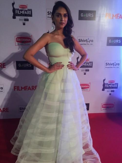 Aditi in this beautiful Gauri & Nainika gown.When does she not look beautiful?! - SeenIt