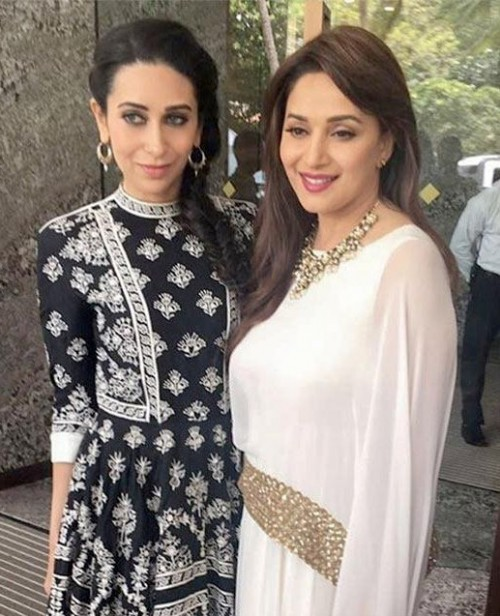 Looking for the exact black printed Maxi dress that Karisma Kapoor is wearing - SeenIt