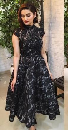 Want this black dress that Prachi Desai is wearing - SeenIt