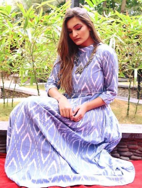 Looking for a similar blue ikat maxidress - SeenIt