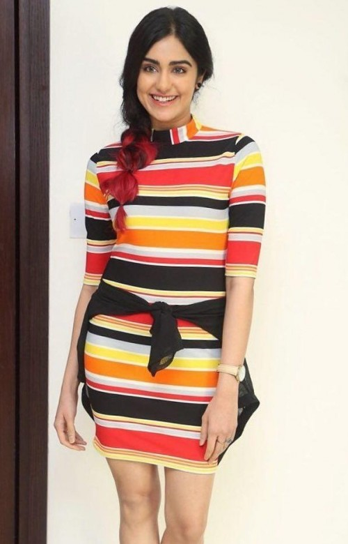 Looking for this multicolour striped bodycon dress that Adah Sharma is wearing. - SeenIt