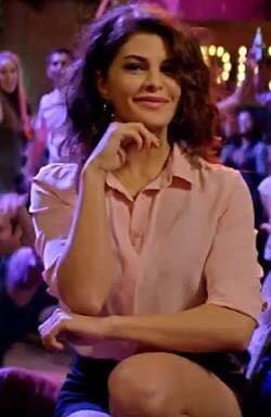 I'm looking for a similar pink plain collar shirt which Jacqueline Fernandez is wearing in A Gentleman - SeenIt