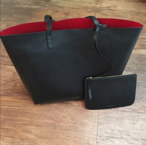 I'm looking for a black tote/ shoulder bag with red interior - SeenIt