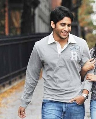 Want a grey tshirt like the one which Naga Chaitanya is wearing - SeenIt