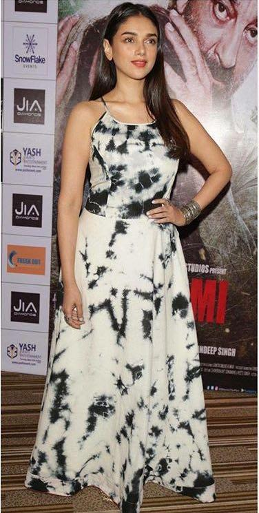 Looking for a similar maxi dress online like Aditi Rao Hydari is wearing at the promotions of her upcoming movi Bhoomi - SeenIt