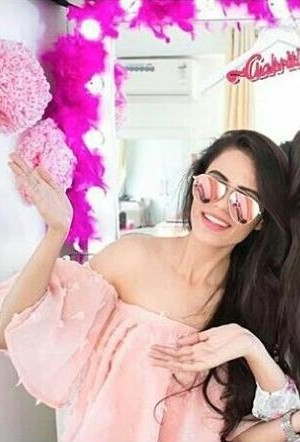 I am looking for this pink off-shoulder top which Aakriti Rana Gill is wearing - SeenIt