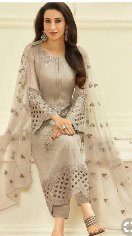 Looking for this grey salwar kameez which Karishma Kapoor is wearing - SeenIt