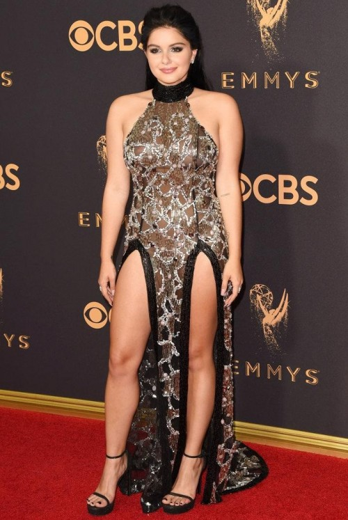 Yay or Nay? Ariel Winter wearing a front double slit high neck gown at the Emmy awards last night - SeenIt
