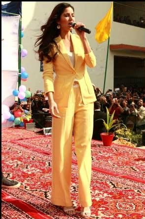 Looking for this yellow pantsuit that Katrina Kaif is wearing - SeenIt