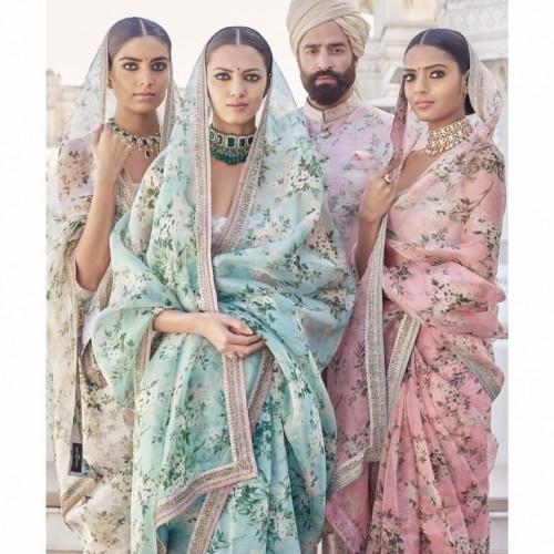 Looking for similar floral sabyasachi  style saree - SeenIt