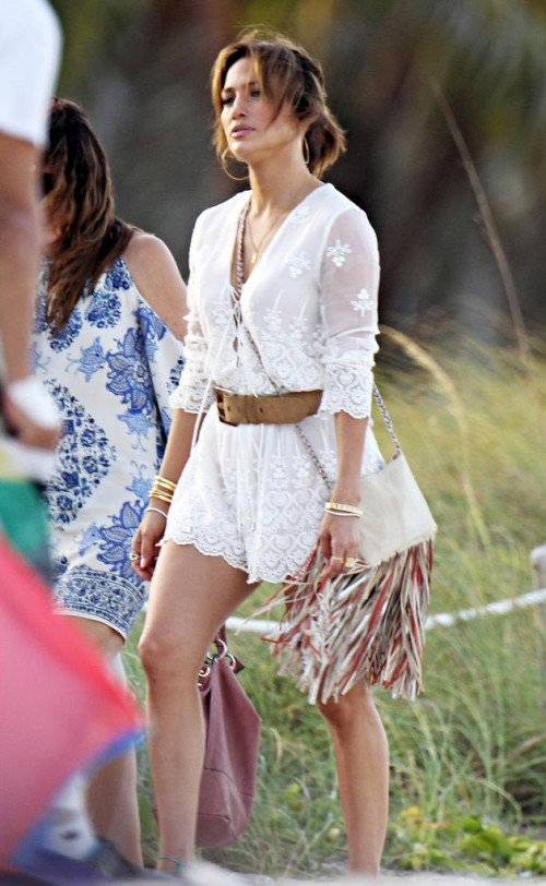 Looking for the similar white lace romper that Jennifer Lopez is wearing - SeenIt