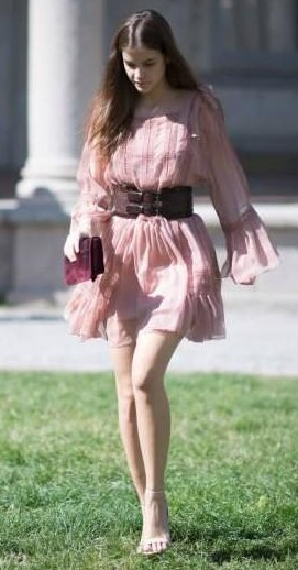 Yay or Nay? Barbara Palvin wearing a summer dress spotted during Milan Fashion Week - SeenIt