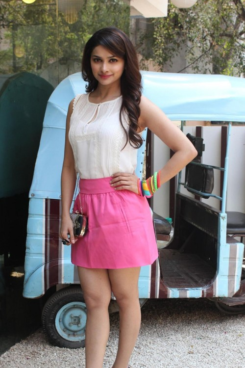 Looking for the similar white top and pink miniskirt that Prachi Desai is wearing - SeenIt