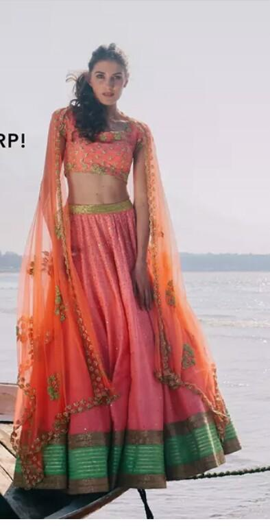 looking for this exact pink and orange lehenga - SeenIt