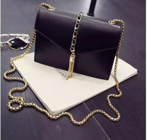 want as black sling bag with metal strap - SeenIt